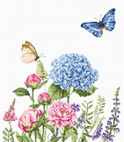 Summer Flowers & Butterflies - Aida Cross Stitch Kit By Luca S