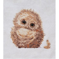 Owlet Cross Stitch Kit by Creative world