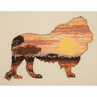 Lion Silhouette Cross Stitch Kit by Maia