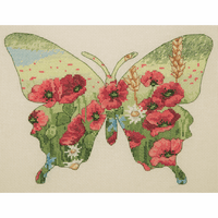 Butterfly Silhouette Cross Stitch Kit by Maia