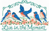 Live in the Moment Cross Stitch chart by Ursula Michael