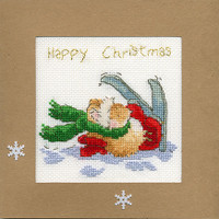 Christmas Card – Apres Ski Cross Stitch Card Kit