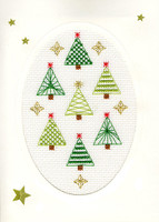 Christmas Card – Christmas Forest Cross Stitch Card Kit