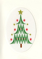 Christmas Card – Christmas Tree Cross Stitch Card Kit