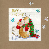 Christmas Card – Counting Snowflakes Cross Stitch Card Kit