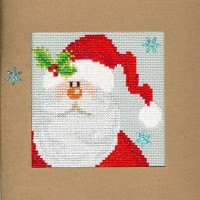 Christmas Card – Snowy Santa Cross Stitch Card Kit