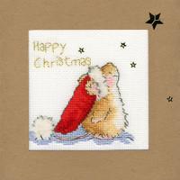 Christmas Card – Star Gazing Cross Stitch Card Kit