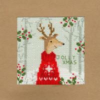 Christmas Card – Xmas Deer Cross Stitch Card Kit