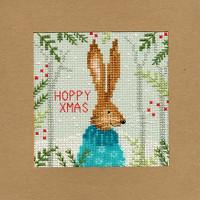 Christmas Card – Xmas Hare Cross Stitch Card Kit
