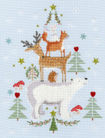Snowy Stack Cross Stitch Kit By Bothy Threads