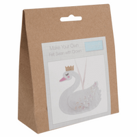 Felt Decoration Kit: Swan with Crown By Trimits