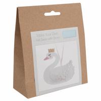 Felt Decoration Kit: Swan with Crown By Trimits