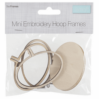 Landscape Frame: Mini Embroidery Hoop: Oval: 40 x 60mm: Pack of 3