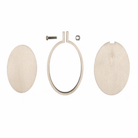 Portrait Frame: Mini Embroidery Hoop: Oval: 60 x 40mm: Pack of 3