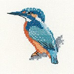 Kingfisher Cross Stitch Kit By Heritage