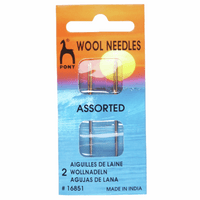 Hand Sewing Needles: Wool: Gold Eye pack of 2