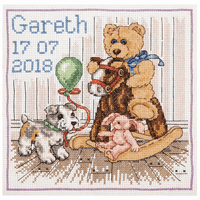 Counted Cross Stitch Kit: Essentials: Teddy Birth Sampler by Anchor