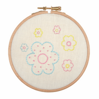 Embroidery Hoop Kit: Floral Arrangement By Anchor