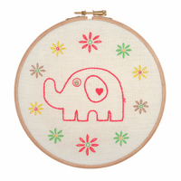 Embroidery Hoop Kit: Mum Elephant by Anchor