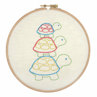 Embroidery Hoop Kit: Turtle Family By Anchor