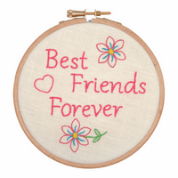 Embroidery Hoop Kit: Best Friends for Ever  By Anchor