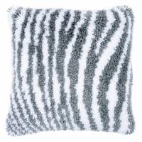 Latch Hook Kit: Cushion: Zebra Print By Vervaco