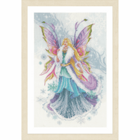 Counted Cross Stitch Kit: Fantasy Winter Elf Fairy By Lanarte