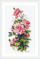 Pink Roses Cross Stitch Kit By Merejka