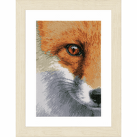 Counted Cross Stitch Kit: Fox By Lanarte