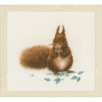Counted Cross Stitch Kit: Squirrel By Lanarte