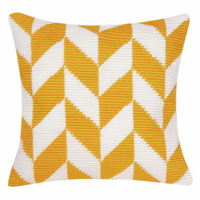 Angled Clamping Stitch Cushion Kit: Herringbone Pattern