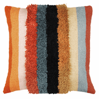 Latch Hook & Chain Stitch Kit: Cushion: Boho: Stripes