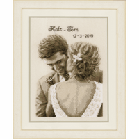 Counted Cross Stitch Kit: Wedding Happiness