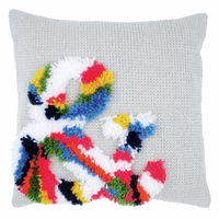 Latch Hook & Chain Stitch Kit: Cushion: Bright: Ampersand