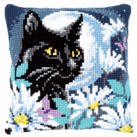 Cross Stitch Kit: Cushion: Cat in the Night by Vervaco