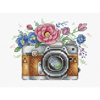 Flower photo Cross Stitch Kit by Oven