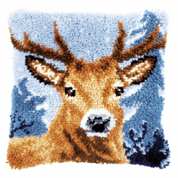 Latch Hook Kit: Cushion: Deer By Vervaco