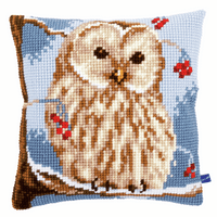 Cross Stitch Kit: Cushion: Winter Owl by Vervaco