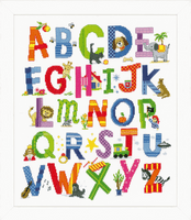 Counted Cross Stitch Kit: Animal Alphabet By Vervaco