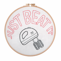 Embroidery Hoop Kit: Just Beat It By Anchor