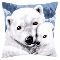 Cross Stitch Kit: Cushion: Polar Bear By Vervaco