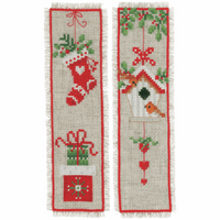 Counted Cross Stitch Kit: Bookmarks: Christmas Motif: Set of 2 By Vervaco