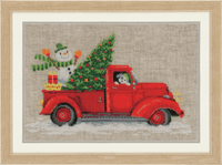 Counted Cross Stitch Kit: Christmas Truck By Vervaco