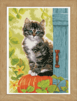 Counted Cross Stitch Kit: Cat & Pumpkin By Vervaco