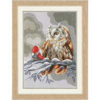 Counted Cross Stitch Kit: Owl and Gnome By vervaco