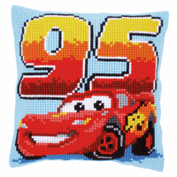 Cross Stitch Cushion Kit: Disney: Lightning McQueen by Vervaco