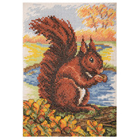 Counted Cross Stitch Kit: Essentials: Red Squirrel By Anchor