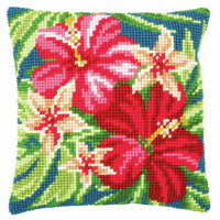 Counted Cross Stitch Kit: Cushion: Botanical Flowers by Vervaco
