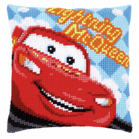 Cross Stitch Cushion Kit: Disney: Lightning McQueen 2 by Vervaco