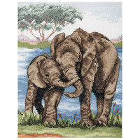 Counted Cross Stitch Kit: Essentials: Elephants By Anchor